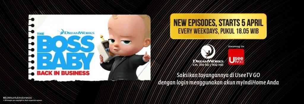 Saksikan episode baru Season 4 Boss baby back in business di Dreamworks Indonesia 5 April 2021.