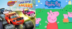 Kartun Blaze and the Monster Machines dan Peppa Pig resmi memiliki Console video game oleh Outright games
