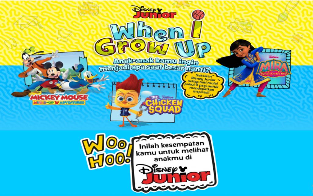 Untuk yang terakhir kalinya, Disney Junior Indonesia kembali gelar kontes When I Grow Up 2021