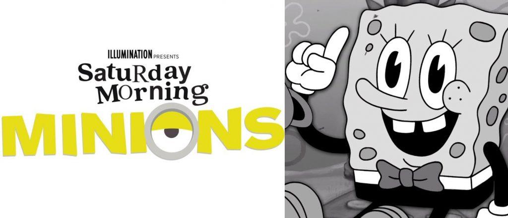 Ketika Tradisi Klasik Kartun Sabtu Pagi Mempertemukan Minions dan Spongebob