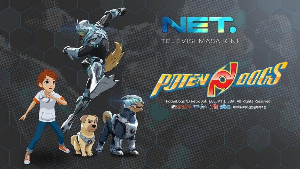 Akan Tayang di NET TV, Memperkenalkan PotenDogs, Serial Animasi Hasil Kerjasama AKGames dan Retrobot