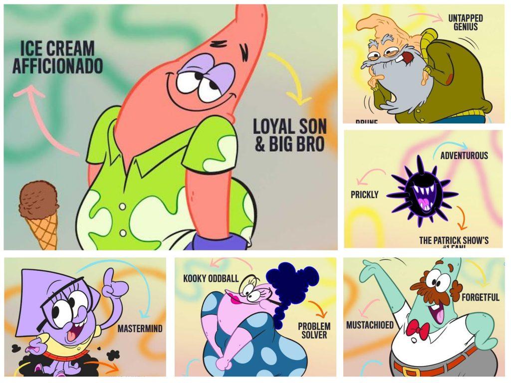 Temui Para Chara dari The Patrick Star show Debut pada 9 Juli di Nickelodeon Amerika