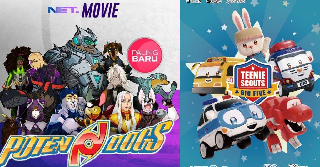 NET Kembali Perbaharui Musim Serial Animasi 'Teenie Scouts Big Five' dan Potendogs
