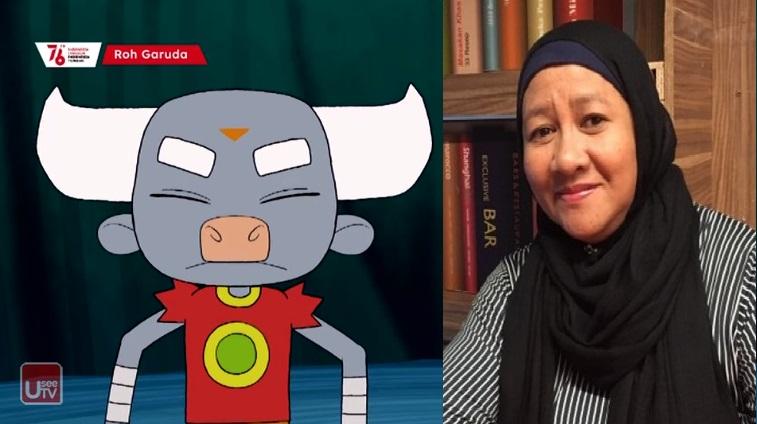 Hana Bahagiana Menjadi Seiyuu Bhi Dalam Kartun terbaru Indiekids Roh Garuda Tayang di Indiekids