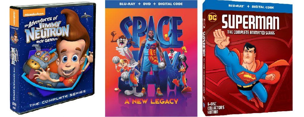 Home Video DVD: Adventure Of Jimmy Neutron, Space Jam A New Legacy dan Superman